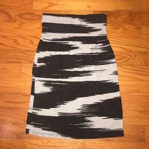 🦓 Athleta Pool Cover Up - black and grey pattern